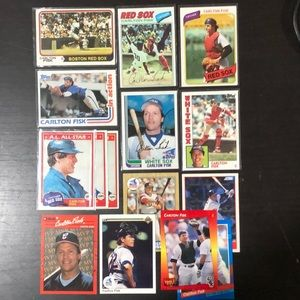 Carlton Fisk Baseball Card Lot (15) 1974-92'  NM++